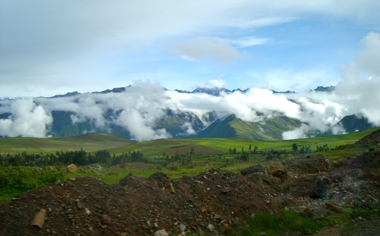 Driving towards the Inca Trail