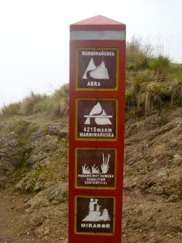 Warmiwanusca, Dead Woman's Pass, 4,215 meters