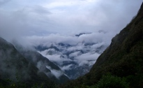 Clouds continuing to penetrate the valley