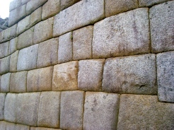 Sun Temple walls built without the use of mortar, so perfectly fit together not even a razor blade can slip through