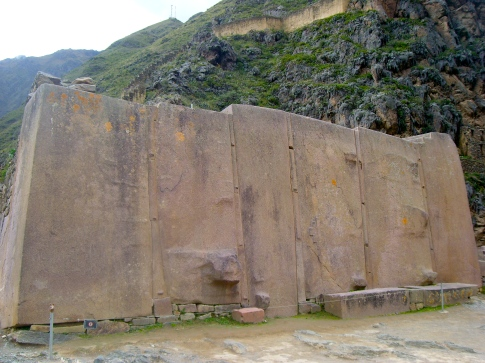 Wall of 6 Monoliths at Ollantaytambo