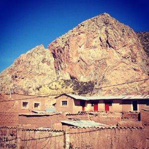 Otherworldly landing ground adjacent to where the three pre-Colombian pyramids stood, Pukara, Puno