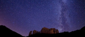 Milky Way Over Cathedral Rock, By David Sunfellow