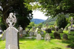 The old monastery at Glendalough